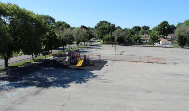 Chicago playground before